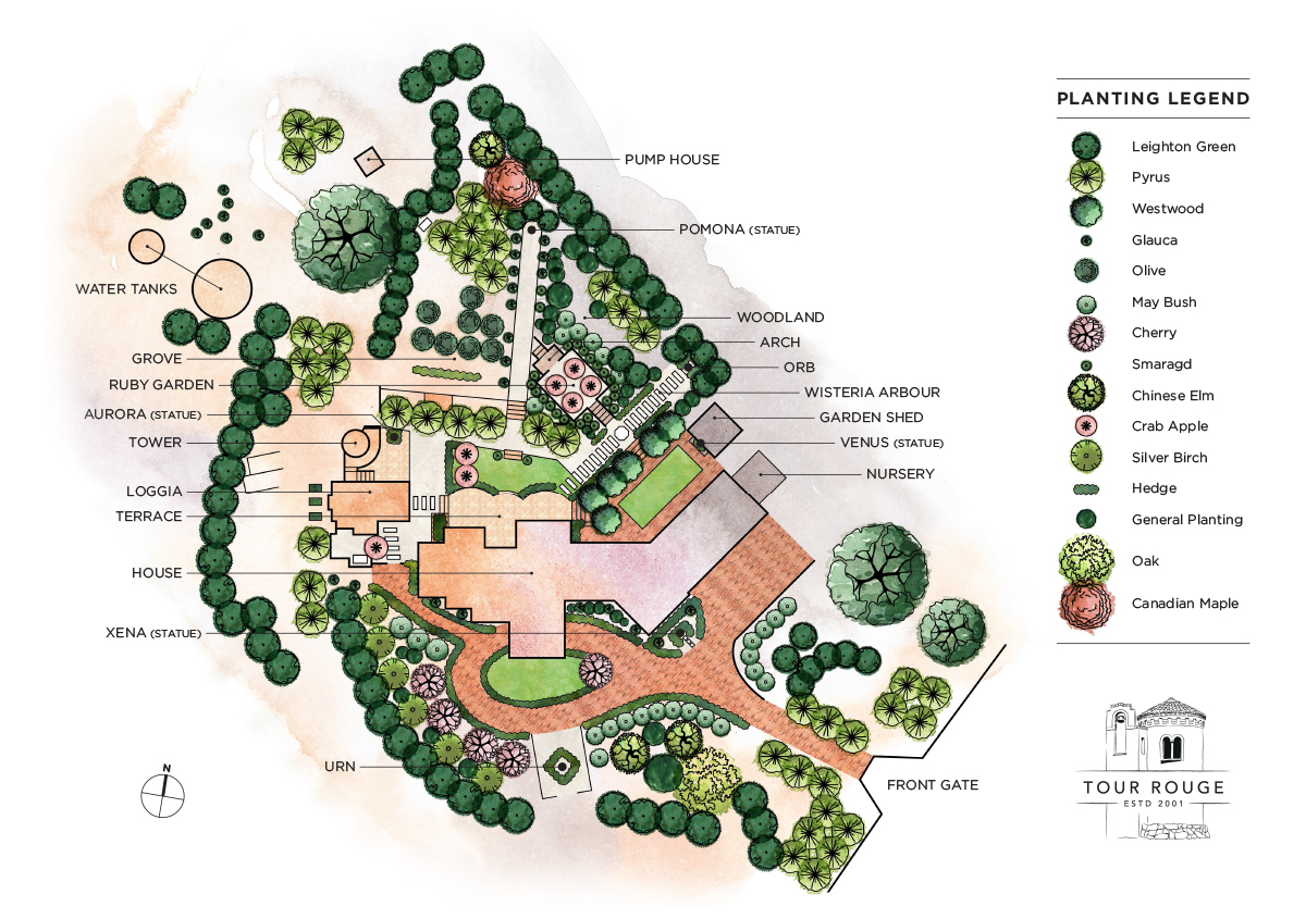 TourRouge_GardenPlan_Labelled